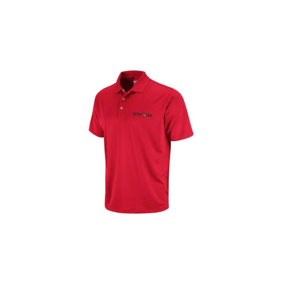 Cardinals Red adidas Primary Logo Polo Shirt