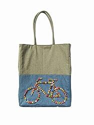 JUHI MALHOTRA Womens Tote Bag (Blue)