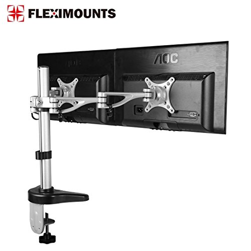 FLEXIMOUNTS M13 Clamp Dual Monitor arm Desk Mounts Monitor Stand for 10