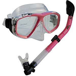 Buy PROMATE Snorkeling Scuba Dive DRY Snorkel Mask Gear Set by Promate