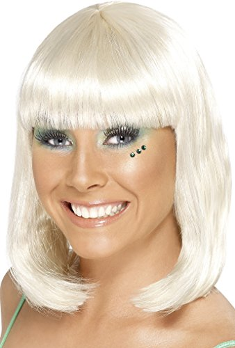 Smiffy's Women's Party Wig Blonde Short with Fringe - 1