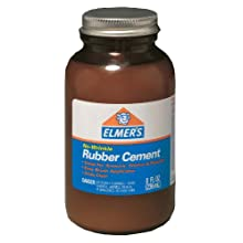 Elmer's No-Wrinkle Rubber Cement, 8 Ounces, Clear (231)