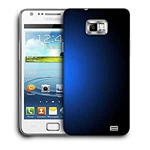 Snoogg Glowing Blue Design Printed Protective Phone Back Case Cover For Samsung Galaxy S2 / S II