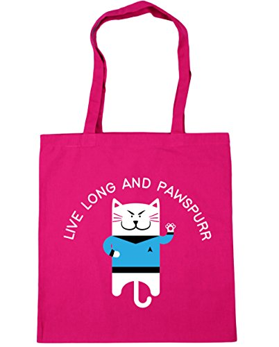 hippowarehouse-live-long-and-pawspurr-tote-shopping-gym-beach-bag-42cm-x38cm-10-litres
