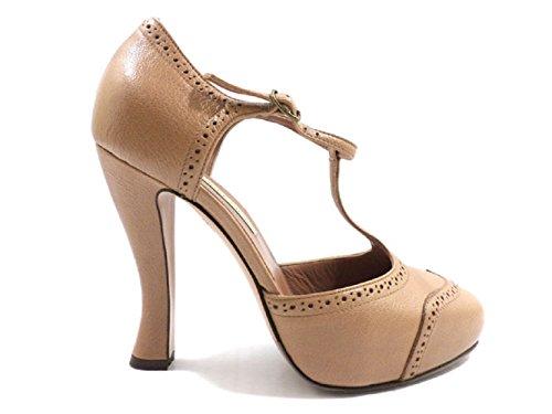 scarpe donna L'AUTRE CHOSE 40 decolte beige pelle ZX998