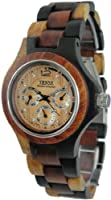 Tense Wood Watch Mens Round Multicolored 3 Dial Hour, Date, G4300IDM LF from Tense Watch