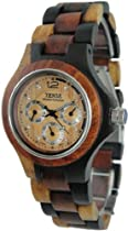 Tense Wood Watch Mens Round Multicolored 3 Dial Hour, Date, G4300IDM LF