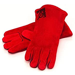 Lodge red leather gloves