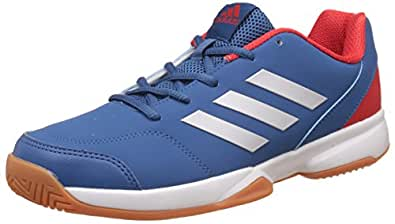 adidas Men's Gumption Indoor Corblu, Silvmt and Corred Indoor Multisport Court Shoes - 10 UK/India (44.67 EU)
