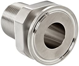 Dixon 22MP-R7550 Stainless Steel 316L Sanitary Fitting, Clamp Adapter, 3/4\