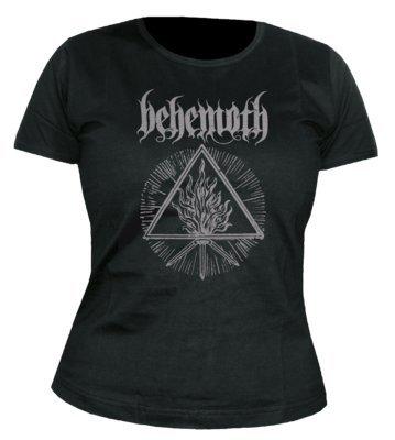 Da donna Behemoth furor divinus Banded colletto a maniche corte maglietta nero 42