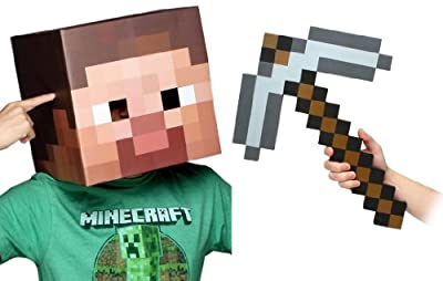 Minecraft 12 Steve Head Pickaxe Costume Kit from toynk