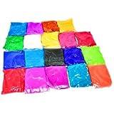 Rangoli Colors (Pack of 19 Colors - 100 grams (3.52 OZ) Each Rangoli Powder)