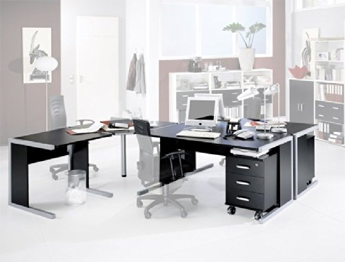 schreibtisch f r 2 personen schwarz pure pharao24 com. Black Bedroom Furniture Sets. Home Design Ideas