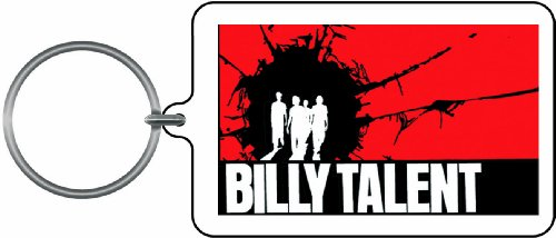 Licenses Products Billy Talent Silluette Lucite Key Chain
