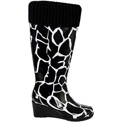 Giraffe Glamour Ladies Wellies Wellington Boots