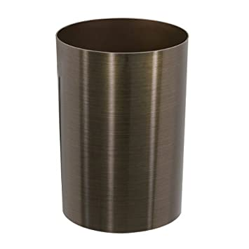 Umbra Metalla 3.5-Gallon Polypropylene Waste Can, Metallic Bronze