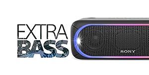 Sony XB30 Portable Wireless Bluetooth Speaker, Black (2017 Model) SRS-XB30/BLK (Certified Refurbished)