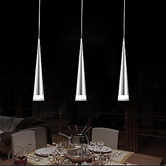 Modern Bar Pendant Light, 3 Light, Transparent Acrylic Metal Plating