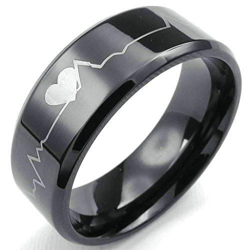 daesar-homme-bagues-acier-inoxydable-bandes-homme-noir-ings-coeur-bagues-coeurbeat-anneau-8mm-taille