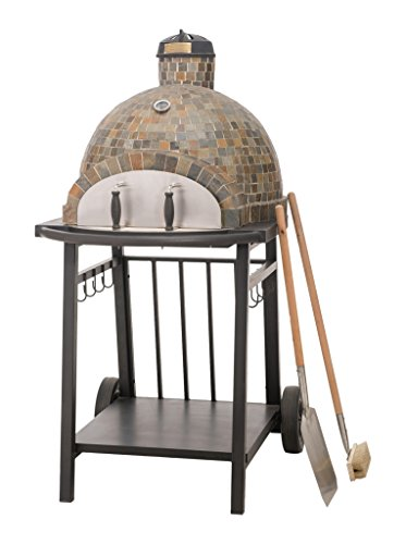 Sunjoy L-BQ127PST-A Killington Wood-Fired Pizza Oven (Pizza Ovens Wood Fired compare prices)