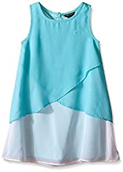 Nautica Little Girls' Chiffon Overlay Dress, Turquoise, 4