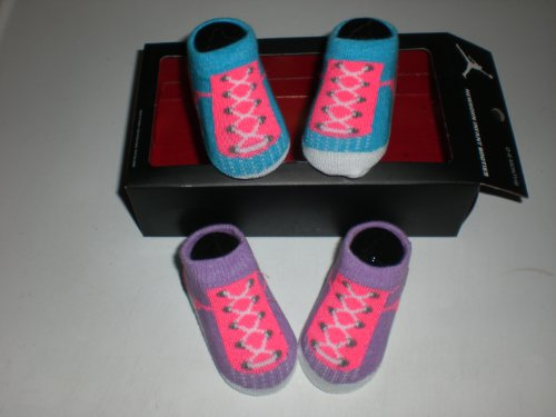 Nike Air Jordan Newborn Baby Booties Purple, Size 0-6 Months
