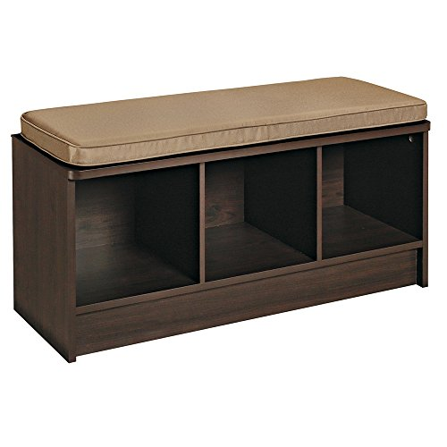 ClosetMaid 1570 Cubeicals 3-Cube Storage Bench, Espresso (Entryway Furniture With Storage compare prices)