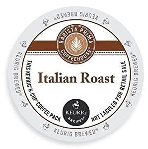 Barista Prima Coffeehouse Dark Roast Extra Bold K-Cup for Keurig Brewers, Italian Roast Coffee
