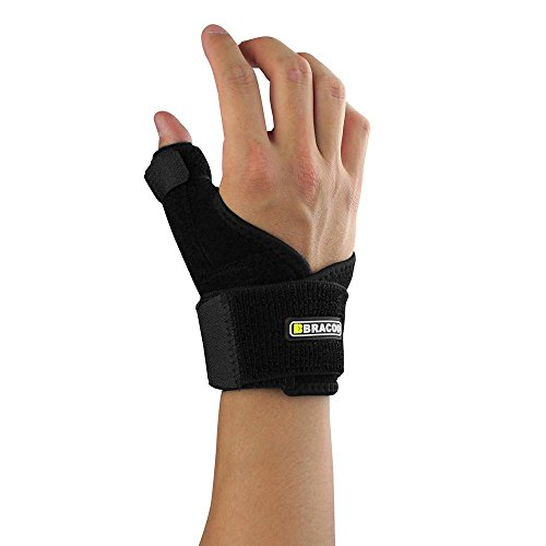 Bracoo Neoprene Reversible Thumb Support Stabilizer Compression Brace Arthritis Tendonitis Carpal Tunnel,Black (Thumb Cast compare prices)