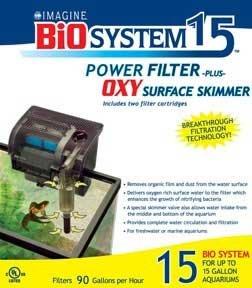 Bio System Aquarium Filter Plus Power Skimmer (up To 15 Gallons) (Catalog Category: Aquarium / Filter Cartridges)