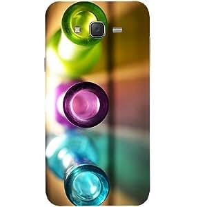 Casotec Light Bottles Design Hard Back Case Cover for Samsung Galaxy J7