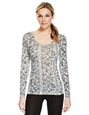 Heatgen™ Faux Snakeskin Thermal Top