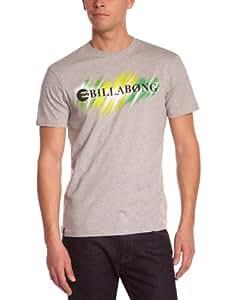 Billabong Herren T-shirt Neon Strikethrough, grey heather, S, M1SS41