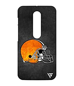 Vogueshell Baseball Helmet Printed Symmetry PRO Series Hard Back Case for Motorola Moto G Turbo