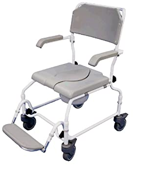 Height Adjustable Bewl Attendant Propelled Commode Chair With Ergonomic Seat And Back from Aids 4 Mobility