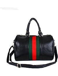 Fashion Women Bag Red And Green Striped Pillow Bag Simple Messenger Bag Retro Handbag