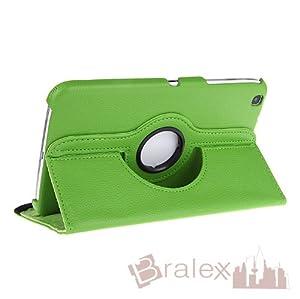 Bralexx 360° Rotation Tasche für Samsung Galaxy Tab 3, 8 Zoll T310 T315 (grün)
