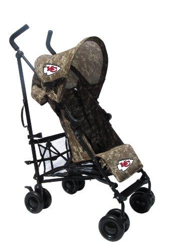 Kansas City Chiefs Camouflage Umbrella Stroller front-39109