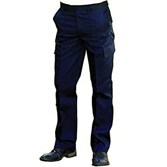 Mens Cargo Work Trousers Black or Navy Short Reg Long Sizes 28 to 52 (W28 L31, black)