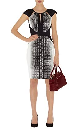 Graphic Texture Print Dress