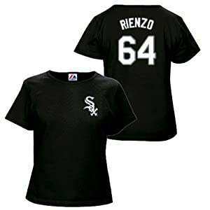 Andre Rienzo Chicago White Sox Black Ladies Player T-Shirt by Majestic by Majestic