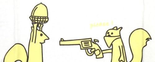 デザインTシャツ★どんぐり強盗 半袖 白★ホワイト/ロック/プリント/カジュアル/メンズ/レディース/ユニセックス TEC-152