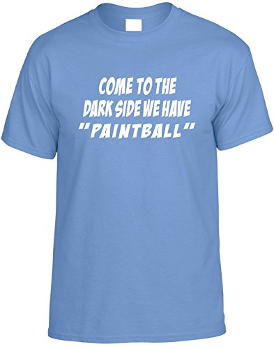 Diva Joy COME TO THE DARKSIDE WE HAVE PAINTBALL XS Funny Kids T-Shirt (Paintball Merchandise compare prices)