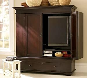 amazon com pottery barn whitmer media armoire jewelry