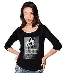 Bewakoof.com Oh Snap (Phantom Black) Women's 3/4 Sleeve T-Shirts