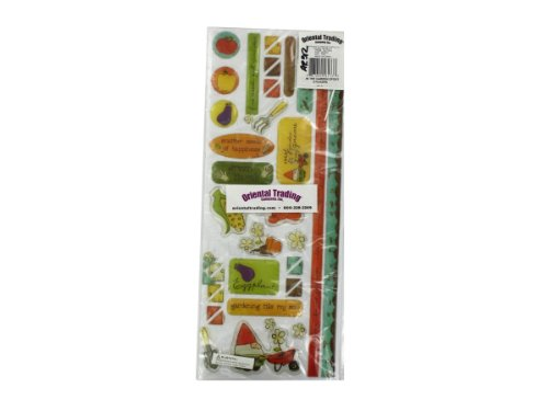 Bulk Pack of 24 - 72 In The Garden Epoxy Stickers (Each) By Bulk Buys