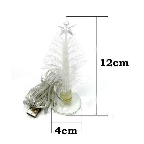 Kobwa(Tm) Fiber Optic Led Glowing Colorful Christmas Tree With A Top Star & Suction Cup With Kobwa'S Keyring