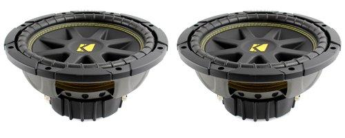 "Pair Of Kicker 10C104 Comp 10"" 600 Watt 4 Ohm Car Subwoofers Combo C10 10C10-4"