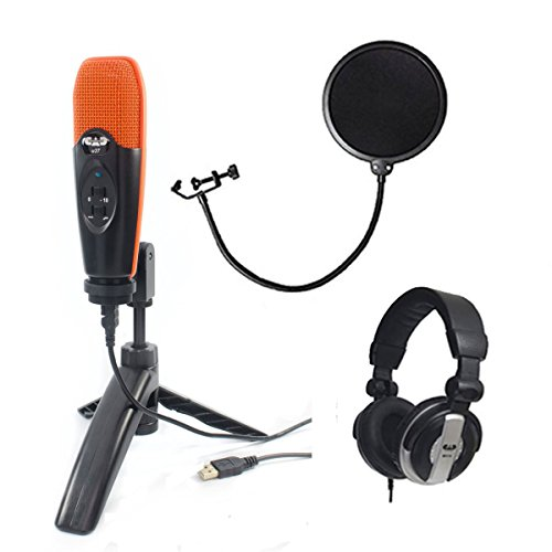 CAD Audio U37 USB Studio Condenser Vocal,Instrument & Recording Microphone, Orange With CAD Audio 6